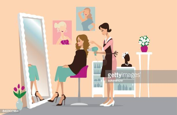 1 033 Hair Salon High Res Illustrations Getty Images