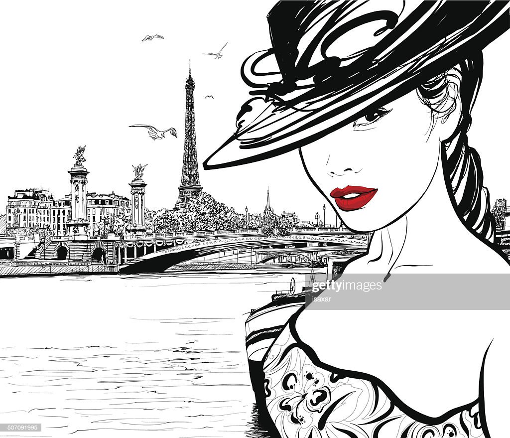 Young woman near the Seine river in Paris