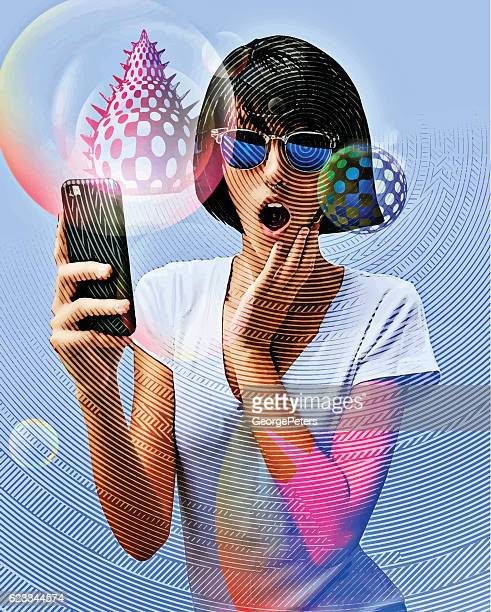 Young Woman Playing Mobile Games On Smart Phone