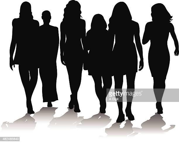 Giovane donne folla