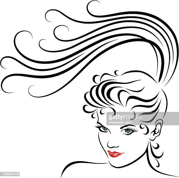 Young Women with Long Ponytail