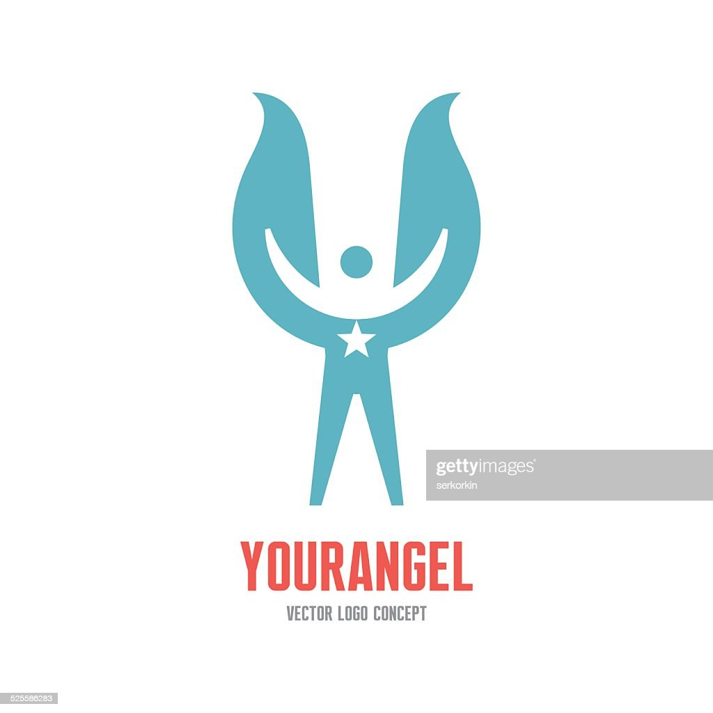 Your angel - vector logo concept illustration