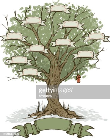 Your own family tree vector art getty images - Arbre genealogique dessin ...