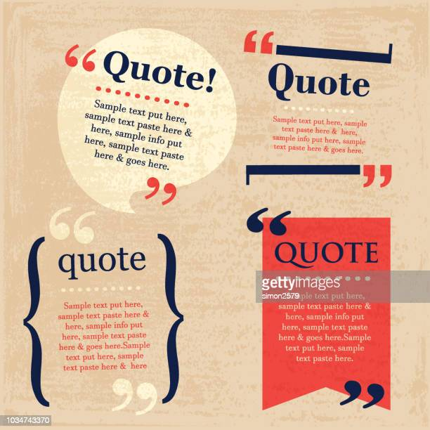 your quote here speech bubbles set with grunge texture - sayings stock illustrations