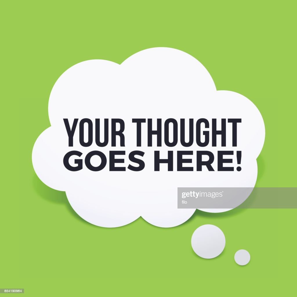 Your Thought Here : stock illustration