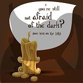 You're still not afraid of the dark? Halloween banner