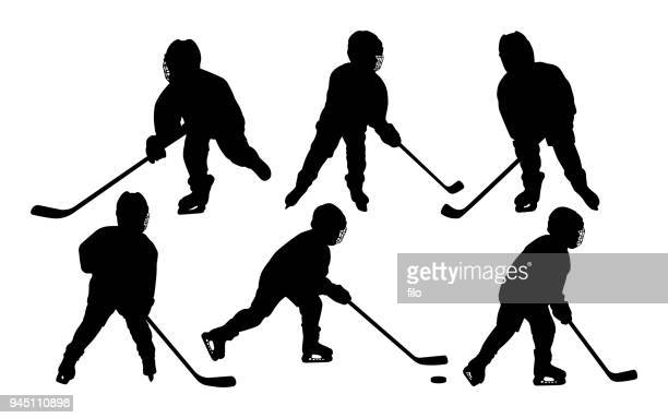 Youth Hockey Player Silhouettes