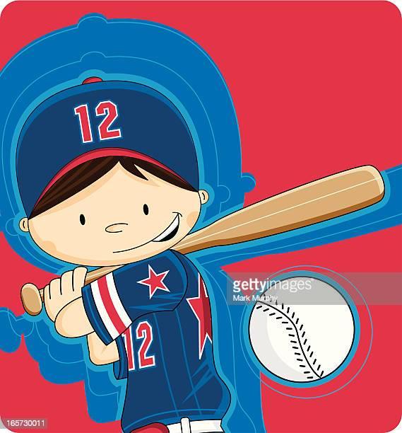 Youth League Baseball Boy