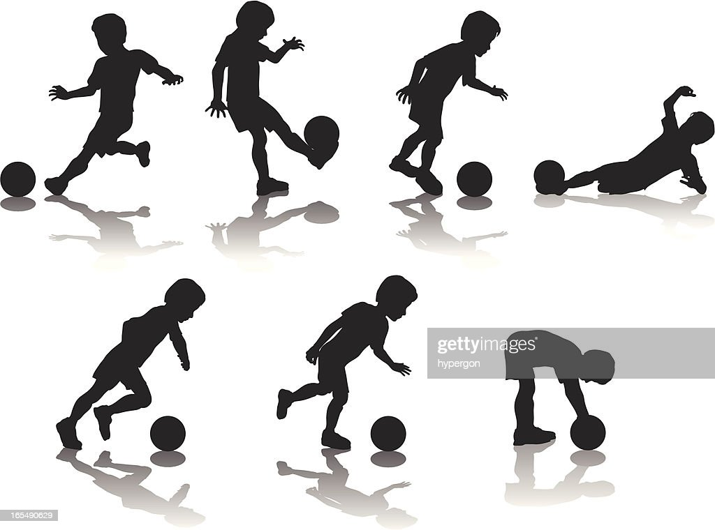 Youth Soccer Silhouettes