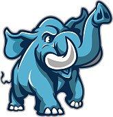 Youthful Happy Elephant