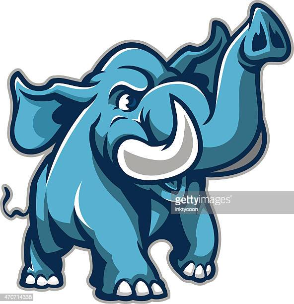 youthful happy elephant - animals charging stock illustrations, clip art, cartoons, & icons