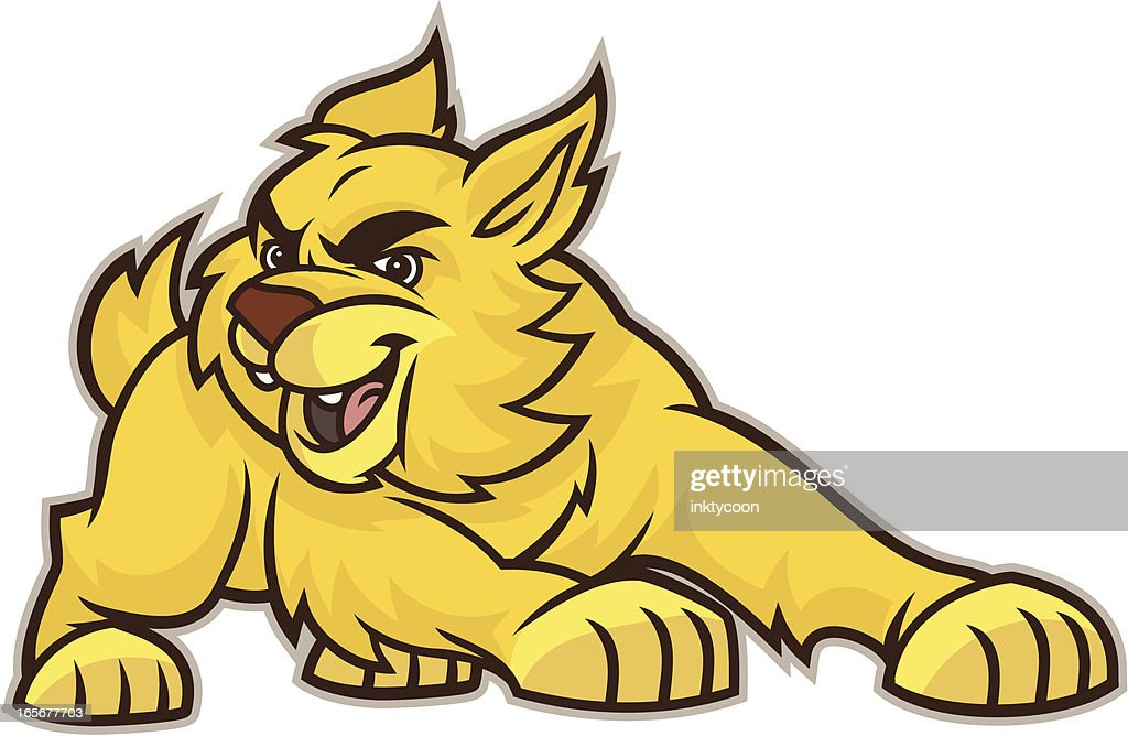 Youthfull Wildcat Bobcat Mascot
