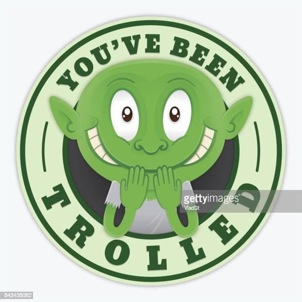 ilustrações de stock, clip art, desenhos animados e ícones de you've been trolled internet bullying troll mocking - cyberbullying