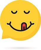 yummy emoji speech bubble