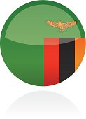 Zambia, Africa Flag Button