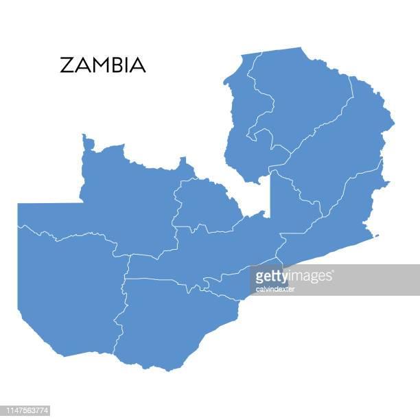 ザンビアのマップ - ザンビア点のイラスト素材/クリップアート素材/マンガ素材/アイコン素材