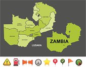 Zambia navigation map