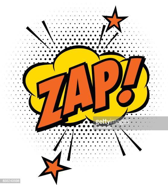 zap effect - humor stock illustrations