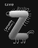 Zebra Fur Letter