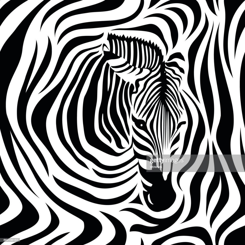 Zebra head seamless pattern.