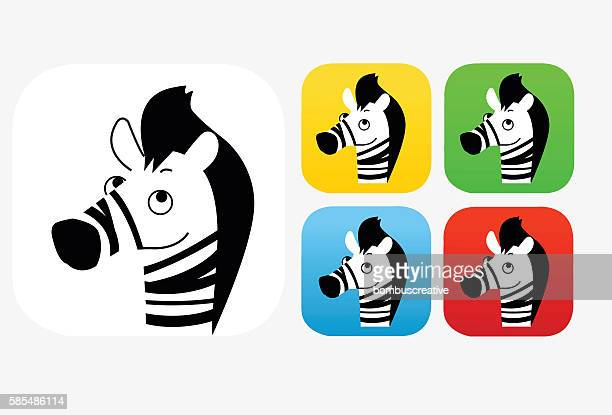Zebra Icon Flat Graphic Design