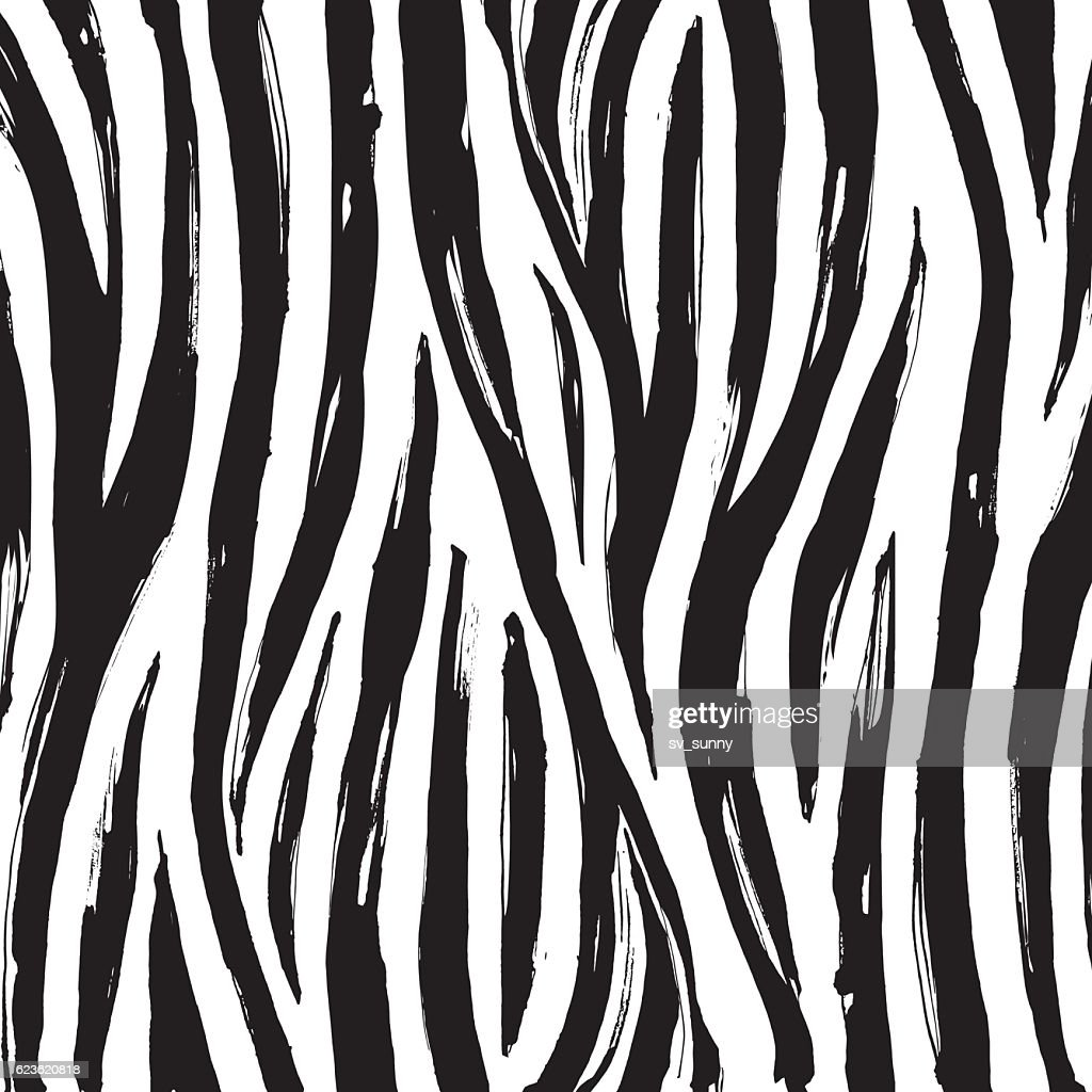 Zebra print background pattern. Black and white