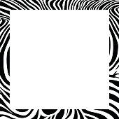 zebra print border, frame design.