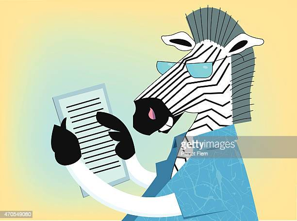 zebra ein ebook lesen - electronic organizer stock-grafiken, -clipart, -cartoons und -symbole