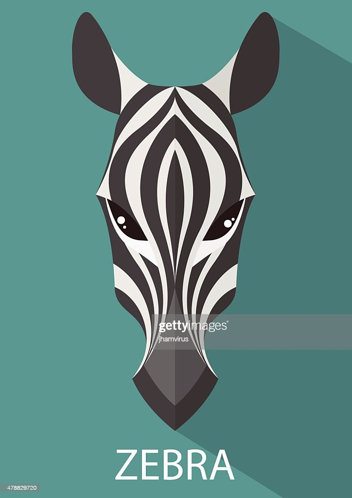 Zebra vector flat design