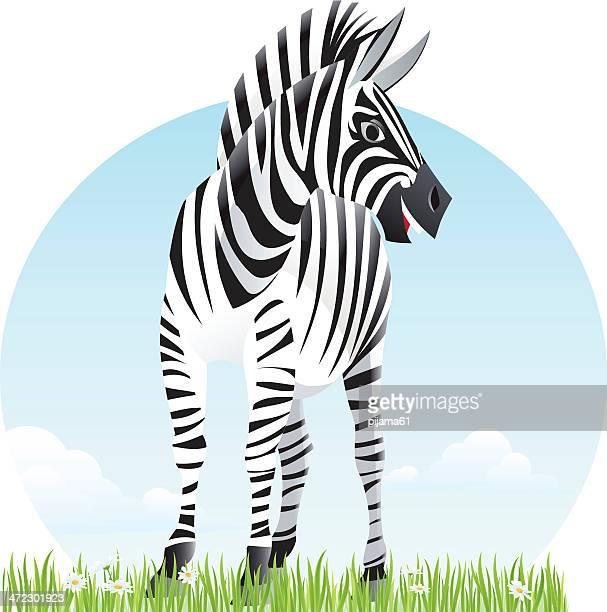 zebra - savannah stock illustrations, clip art, cartoons, & icons