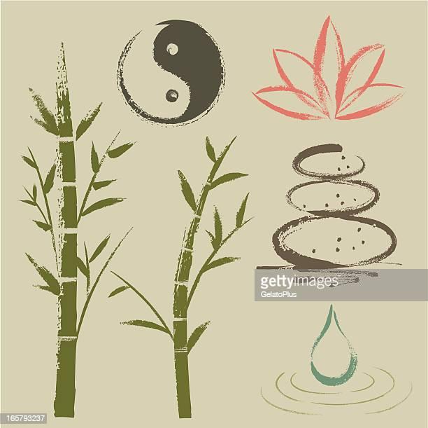 illustrations, cliparts, dessins animés et icônes de zen éléments - lotus
