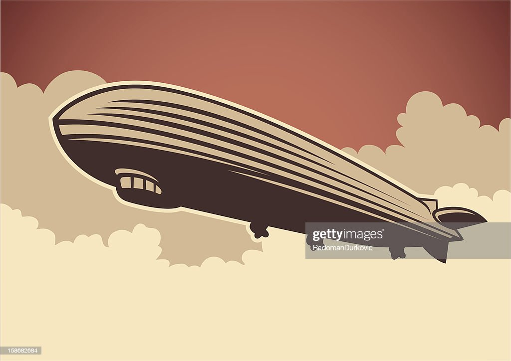Zeppelin illustration.