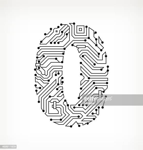 Zero Circuit Board on White Background