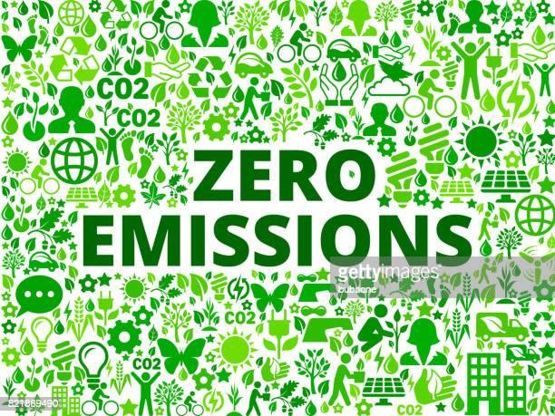 zero emissions environmental conservation vector icon pattern - activist icon stock illustrations