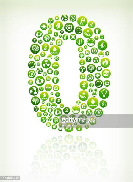 ゼロ環境保全緑ベクトルボタンの模様。 - ゼロ点のイラスト素材/クリップアート素材/マンガ素材/アイコン素材