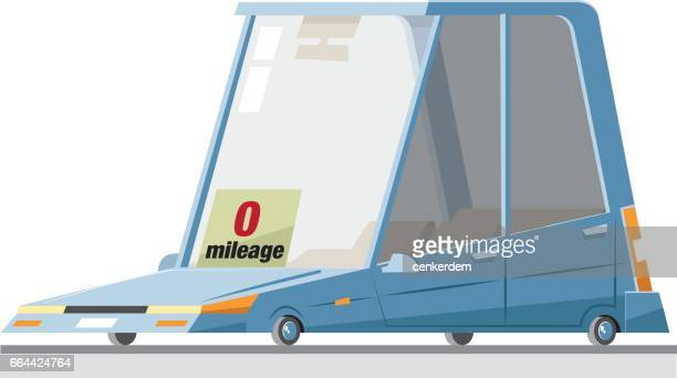 zero mileage car - hatchback stock illustrations, clip art, cartoons, & icons