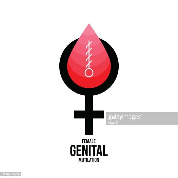 bildbanksillustrationer, clip art samt tecknat material och ikoner med nolltolerans för kvinnlig könsstympning. sluta kvinnlig könsstympning. nolltolerans för kvinnlig könsstympning. stoppa kvinnlig omskärelse, kvinnlig skärstock illustration - respekt