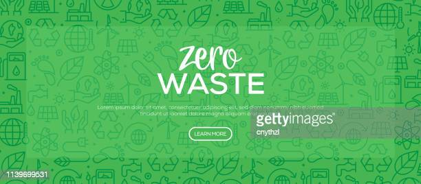 zero waste pattern design - environmental issues stock illustrations
