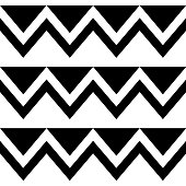 Zig zag seamless tribal vector pattern, geometric ornament in black and white, tribal decoration