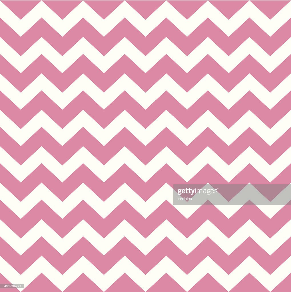 Zigzag pattern in baby pink isolated on white