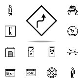 zigzag sign icon. Navigation icons universal set for web and mobile