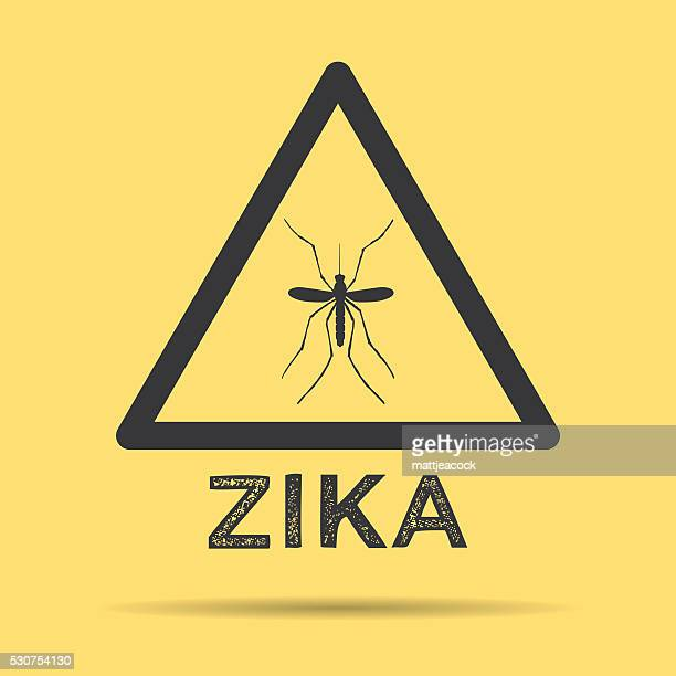 zika virus warning symbol - zika virus stock illustrations