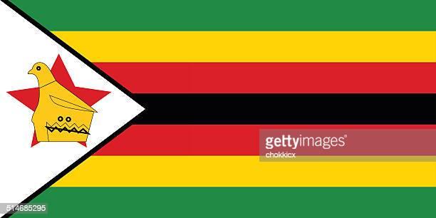 zimbabwe flag - zimbabwe stock illustrations, clip art, cartoons, & icons