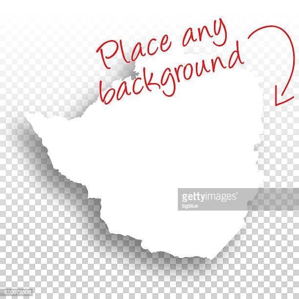 zimbabwe map for design - blank background - zimbabwe stock illustrations, clip art, cartoons, & icons
