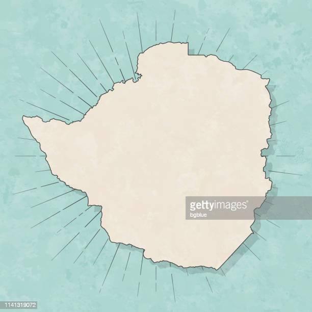 zimbabwe map in retro vintage style - old textured paper - zimbabwe stock illustrations, clip art, cartoons, & icons