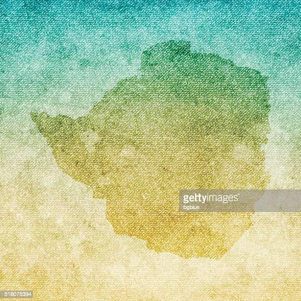 zimbabwe map on grunge canvas background - zimbabwe stock illustrations, clip art, cartoons, & icons