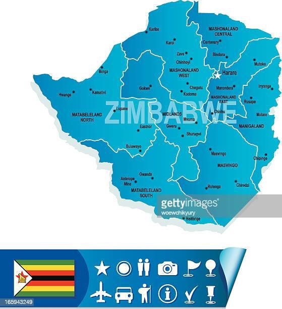 zimbabwe map - zimbabwe stock illustrations, clip art, cartoons, & icons