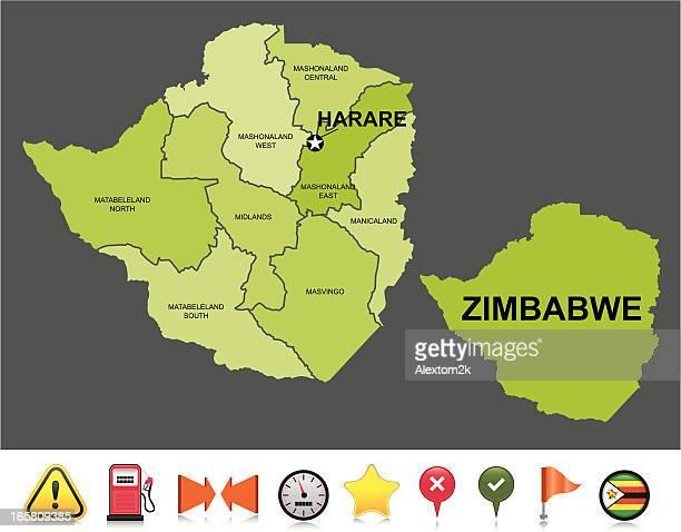 zimbabwe navigation map - zimbabwe stock illustrations, clip art, cartoons, & icons