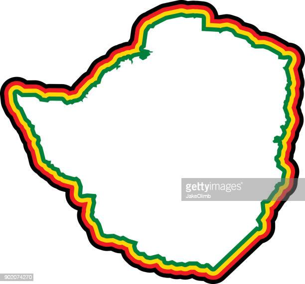 zimbabwe outline - zimbabwe stock illustrations, clip art, cartoons, & icons