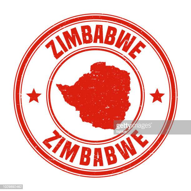 zimbabwe - red grunge rubber stamp with name and map - zimbabwe stock illustrations, clip art, cartoons, & icons